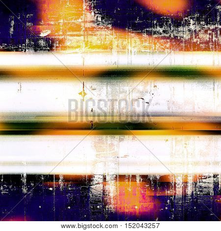 Retro abstract background, vintage grunge texture with different color patterns: yellow (beige); blue; red (orange); purple (violet); black; white