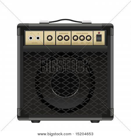 Amplificador de guitarra de vetor