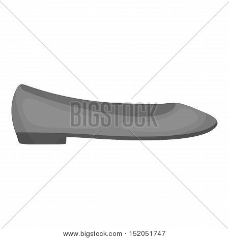 Ballerina monochromes icon in monochrome style isolated on white background. Shoes symbol vector illustration.
