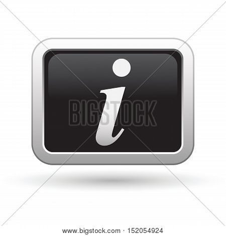 Information icon on the button. Vector illustration