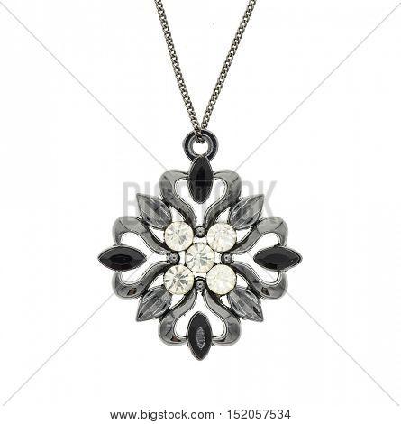 Vintage pendant isolated on white background