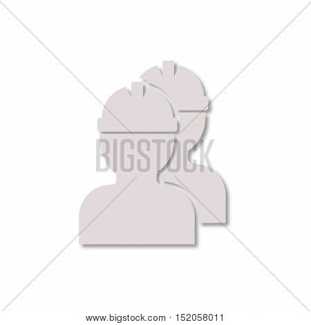 Simple vector Workers icon on white background
