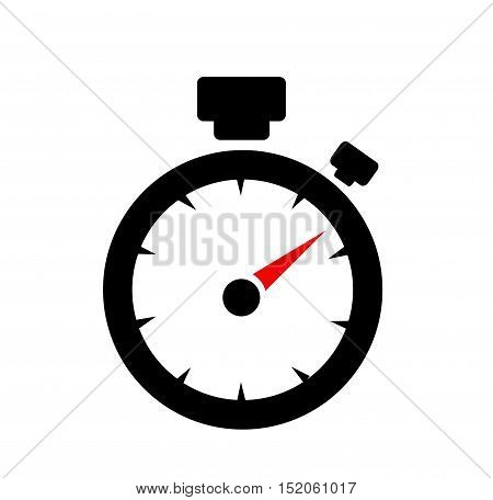 speedometer. abstract symbol of speed on white