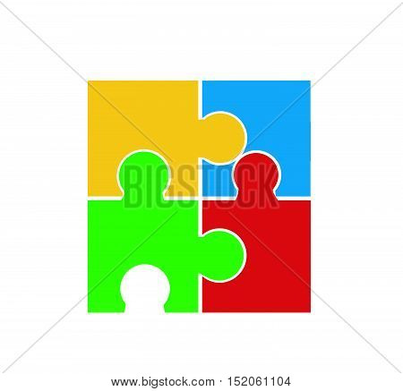 Puzzle vector illustration art on white background