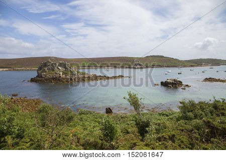 Hangman Island from Bryher, Isles of Scilly, England
