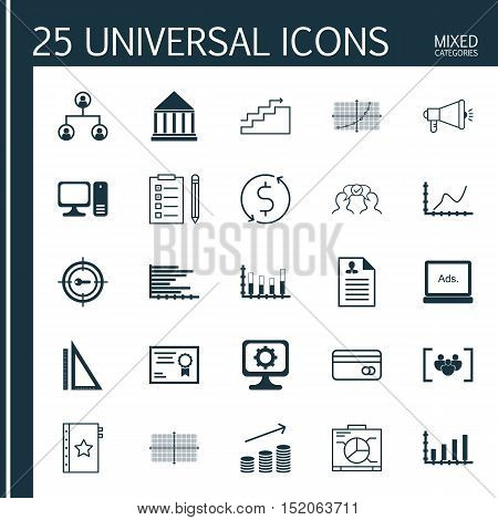 Set Of 25 Universal Editable Icons For Education, Project Management And Airport Topics. Includes Ic