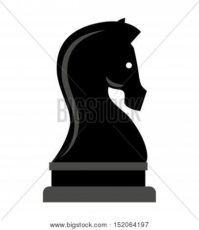 horse piece chess isolated icon vector illustration design