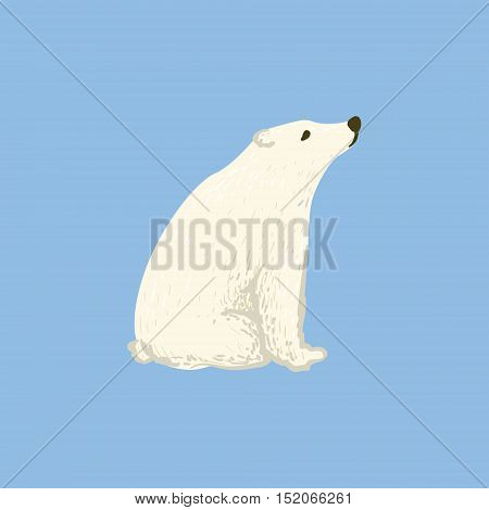 Polar Bear As A National Canadian Culture Symbol. Isolated Illustration Representing Canada Famous Signature On White Background