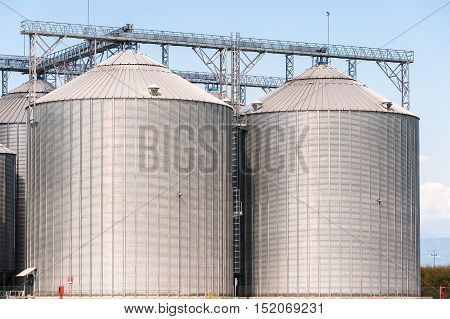 Agricultural Silo - Building Exterior Storage and drying of grains wheat corn soy sunflower
