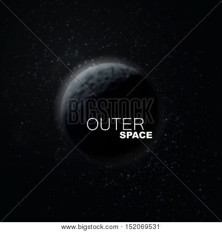 Outer Space. Abstract vector illustration of planet and stars.