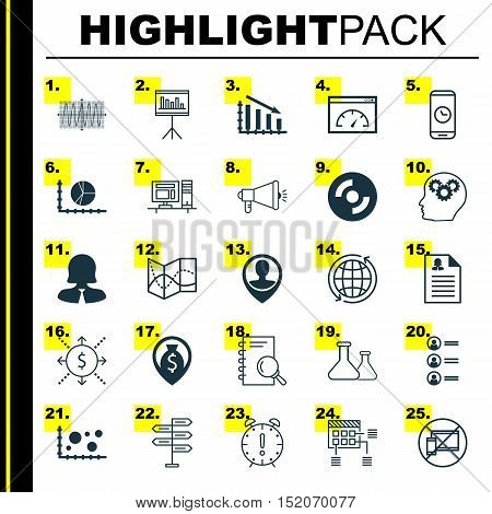 Set Of 25 Universal Editable Icons For Airport, Computer Hardware And Statistics Topics. Includes Ic