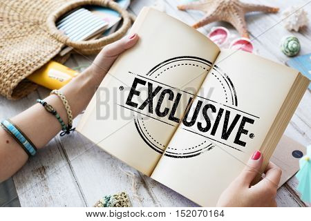 Exclusive Stamp on Notebook Hand