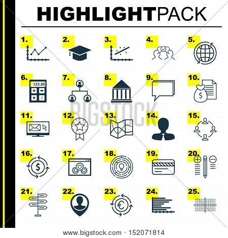 Set Of 25 Universal Editable Icons For Airport, Marketing And Statistics Topics. Includes Icons Such
