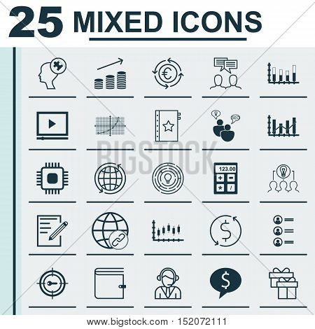 Set Of 25 Universal Editable Icons For Airport, Education And Seo Topics. Includes Icons Such As War