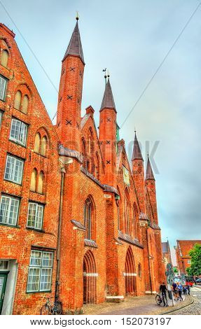 Heiligen-Geist-Hospital or Holy Spirit Hospital in Lubeck - Schleswig-Holstein, Germany