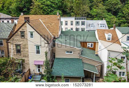 A historic old neighborhood in Jim Thorpe Pennsylvania.