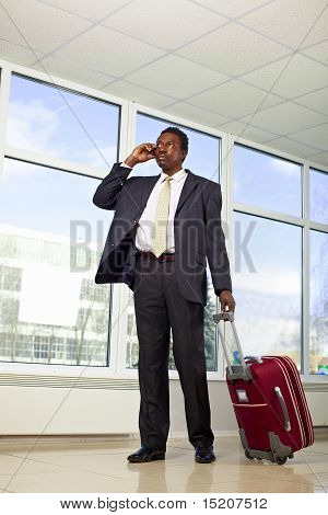 African American businessman travel
