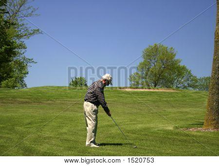 Grandpa Playing Golf