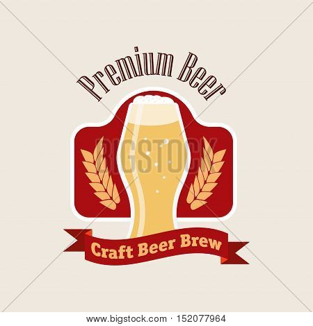 Beer logo vector illustration brew flat pub
