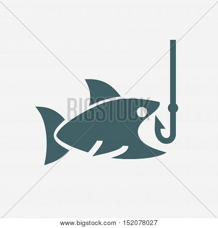 fishing vector icon isolated on white background