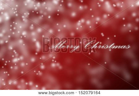 Red Snowflake Background With Text Merry Christmas