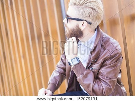 Leather Jacket, Expensive Watch, Nice Sunglasses