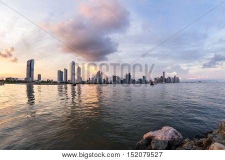 Sunset In Panama City, Panama