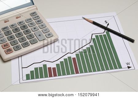business graph business activity in the company, or exchange