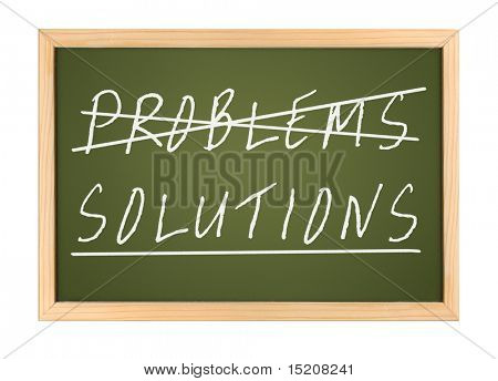 a chalk board with no problems and solutions
