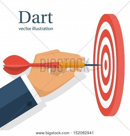 Dart In Hand. Vector