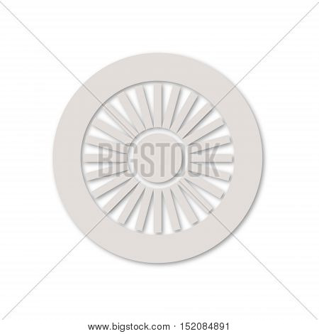 Simple vector Jet engine icon on white background