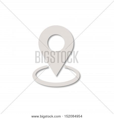 Map pin place marker icon on white background