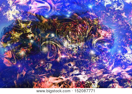 Abstract cosmic space motiv, color abstract background