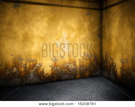 An image of a nice steel room for your content