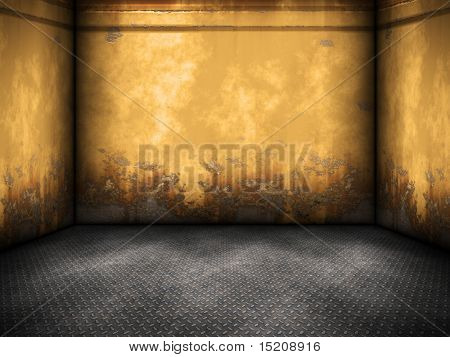 An image of a nice yellow steel room background