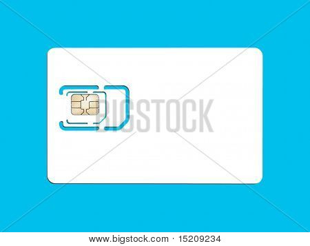 An image of a smart card for cell phones