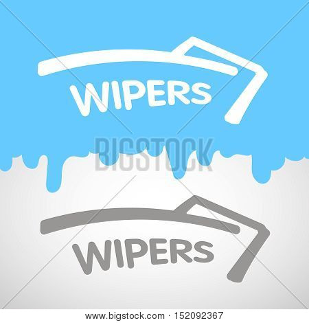 Wipers shape cleaner work logo vector illustration