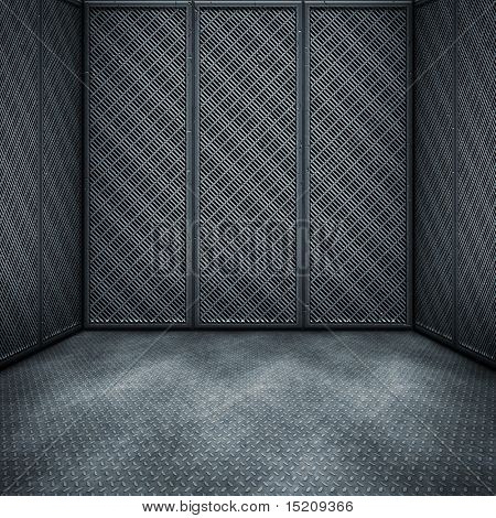 An image of a nice dark steel room background