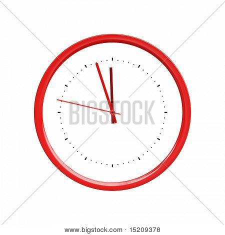 An image of a nice red clock