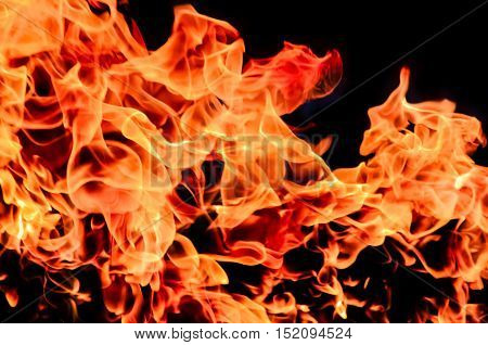 Fire flame texture and background, Gasoline explosion