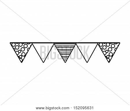 garland decoration party isolated icon vector illustration design