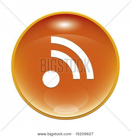 An image of a orange rss feed icon