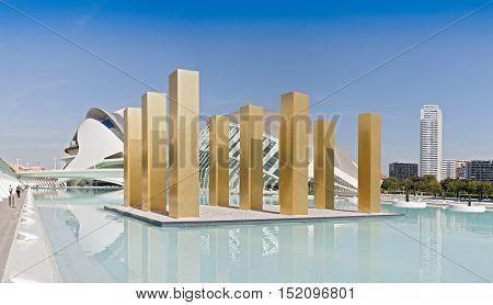 VALENCIA, SPAIN-OCTOBER 08, 2016: City of the Arts and Sciences, Valencia, Spain