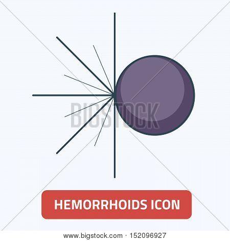 Vector illustration of thin line icon hemorrhoids EPS 10