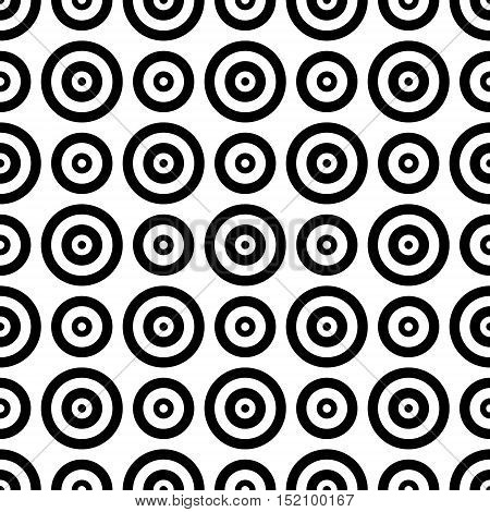 abstract background which depicts black and white circles
