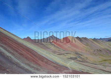 Rainbow Mountain near Cuzco in Peru at 4000 m.a.s.l.