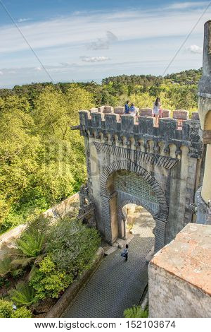 Pena Palace In Sintra, Portugal.