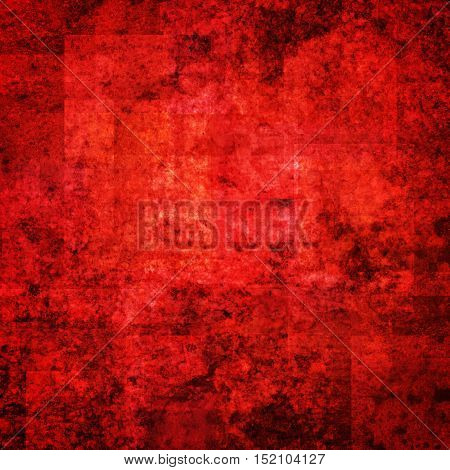 abstract colored scratched grunge background - bright red