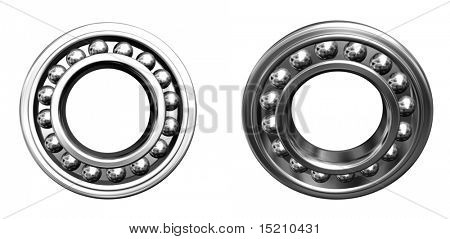 two jointed ball bearings - front projection