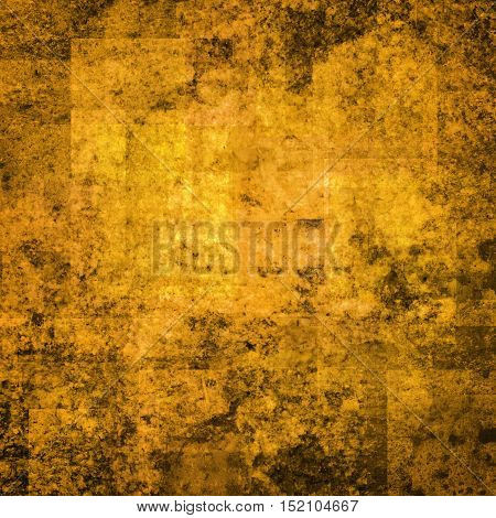 abstract colored scratched grunge background - yellow and orange